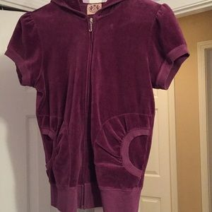 Barely worn short-sleeved Juicy Couture zip-up